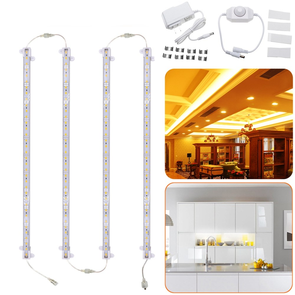Led Strip Lighting Kitchen: 4PCS 30CM 30W 5630 Transparent Cover LED Rigid Strip Light