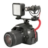 Ulanzi PT-2 Dual Cold Shoe Flash Photography 1/4 Thread Bracket Plate for Microphone Flash Light