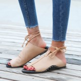 US Size 5-12 Flip Flop Flat Sandals Lace up Comfortable Casual Shoes