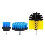 3Pcs 2/3.5/4 Inch Electric Drill Brush Tile Grout Power Scrubber Tub Cleaning Brush Red Blue Yellow