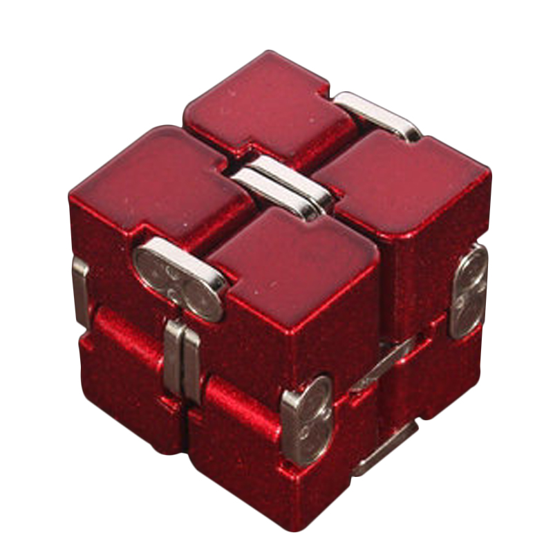 Premium Aluminium Alloy Infinity Cube Deformation Magical Cube Fidget Toys EDC Stress Relief Toy