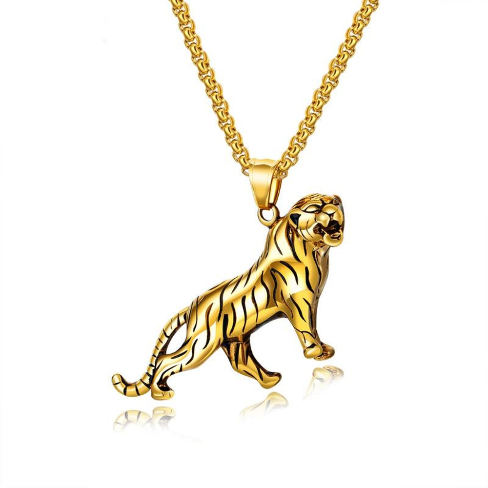 Personality Domineering Gold Silver Men S Chain Necklace
