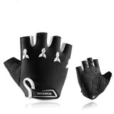 ROCKBROS S145 Cycling Gloves For Kids Bike Breathable Sports Glove Gel Pad Half Finger Shockproof Bo