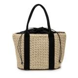 32 x 24cm Straw Bag Handbag Handmade Woven Beach Camping Travel Crossbody Bag
