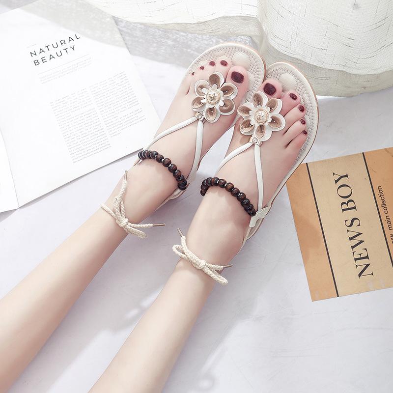 Women Roman Floral Shoes Comfortable Flats Sandals