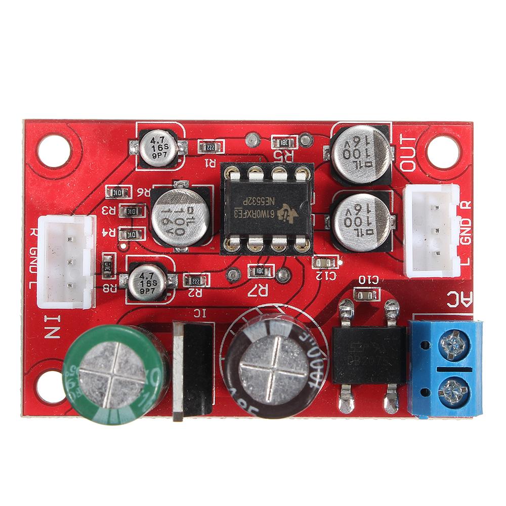 3pcs DC 9-24V AC 8-16V NE5532 Audio OP AMP Microphone Preamps Pre-Amplifier Module Board