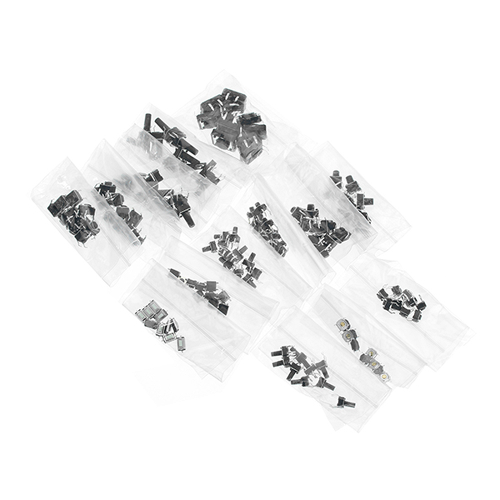 Total 1200pcs Tactile Tact Mini Push Button Switch Packet Micro Switch Bags 12 Types Each 100pcs