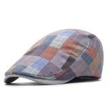 Women Cotton Plaid Flat Beret Caps Classic Outdoor Adjustable Ivy Gatsby Newsboy Cap