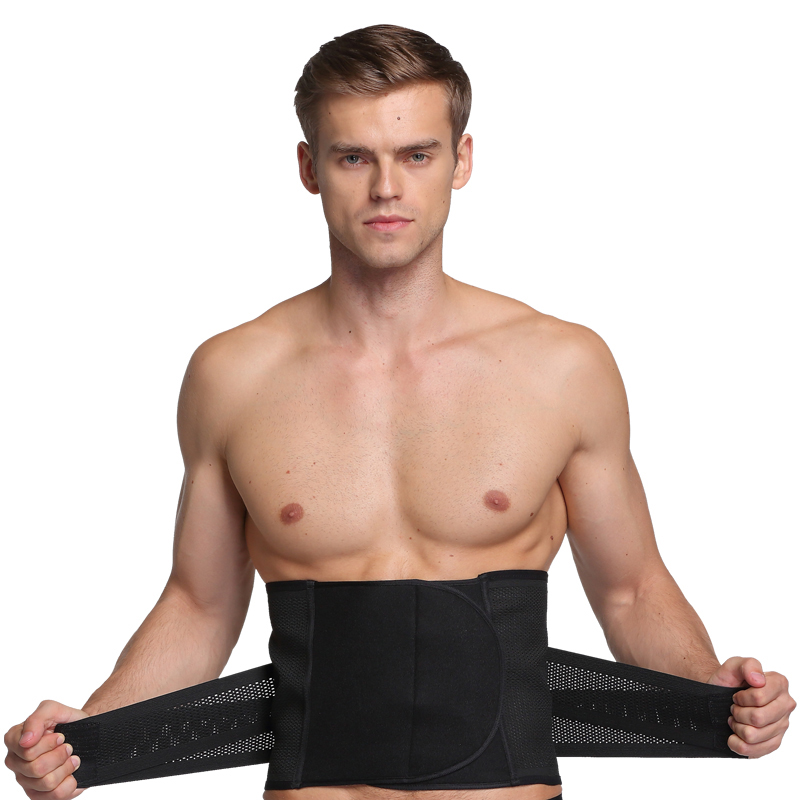 Mens High Elasticity Adjustable Waist Belly Belt Fitness Body Shaper  Sculpting Breathable Waist