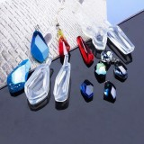 1pcs Crystal Epoxy Gems Pendant Pendant Silicone Mold Earring Pendant For Epoxy DIY Jewelry Making