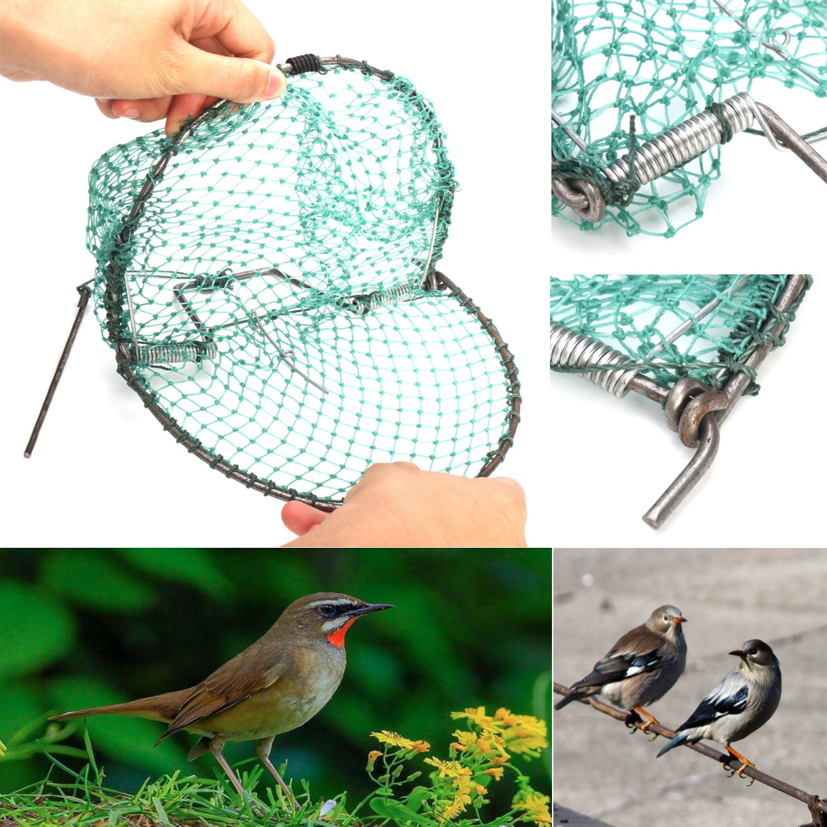 Cod Clap Trap Net/_Length = 5.0 meters,/_net anti birds/_hunting birds