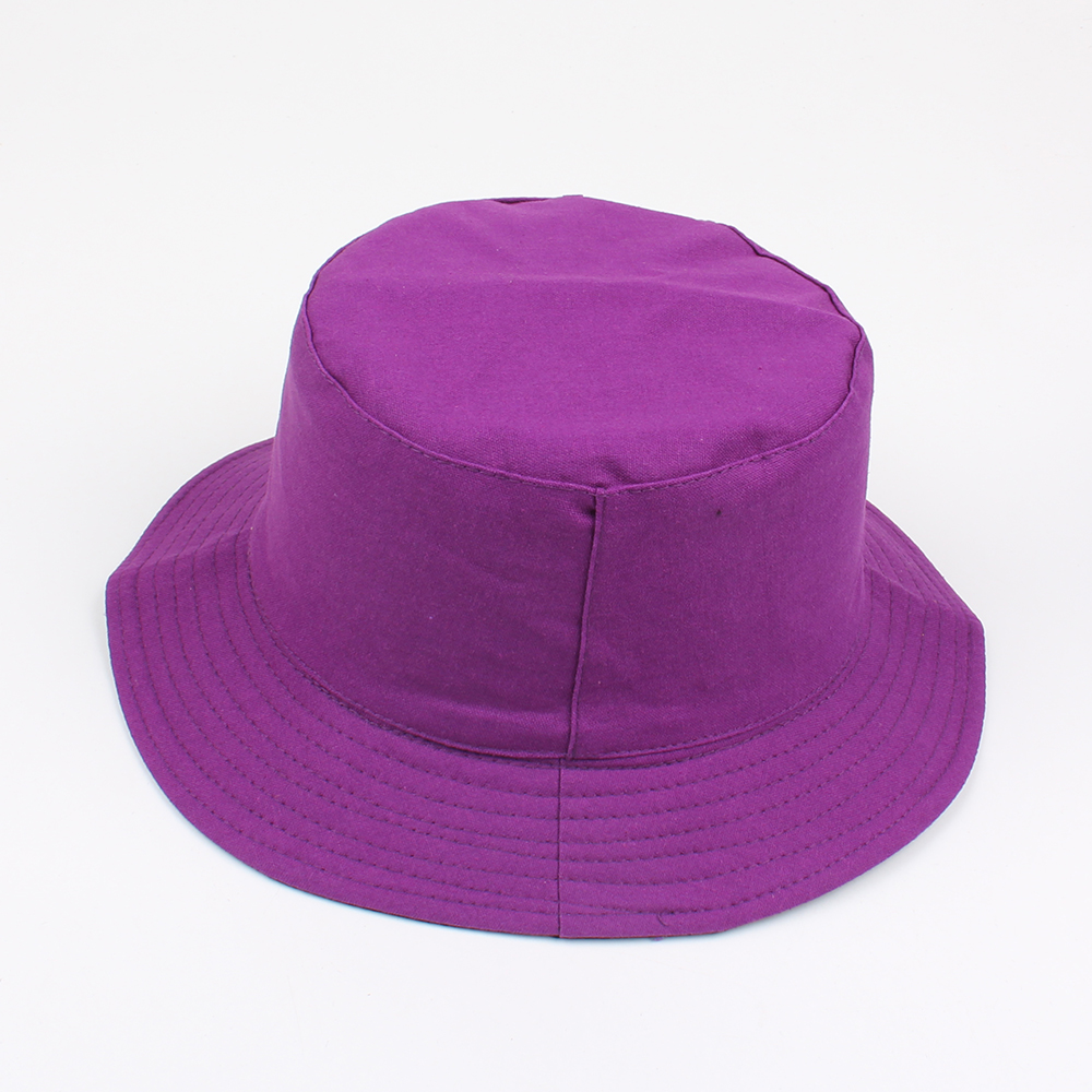 5167f303cb5 Women Summer Casual Solid Color Fisherman Hat Foldable Double-Sided Bucket  Hat