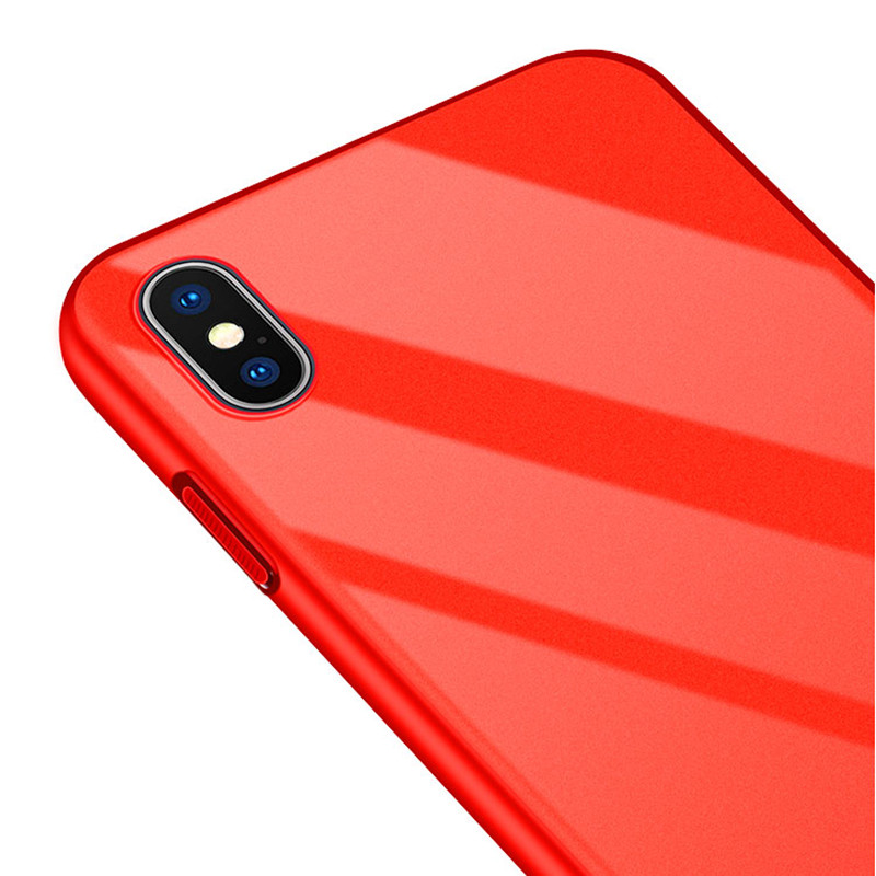 Bakeey Piano Paint Glossy Ultra Thin Hard PC Protective Case for iPhone X