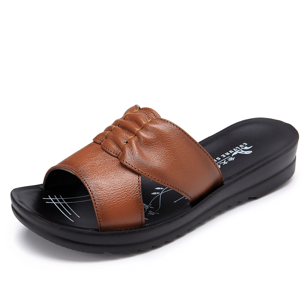 Women Summer Flat Shoes Soft Bottom Platform Sandals