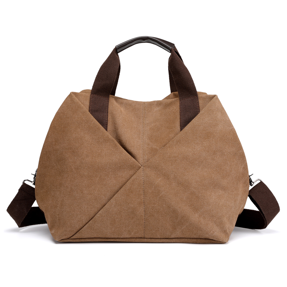 KVKY Women Canvas Tote Handbag Vintage Minimalist Shopping Bag Shoulder Crossbody Bag