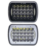 1pcs 6″X7″ 5D DC10-30V 72W IP67 LED Headlights Lamp Bulb Hi/Low Beam DRL for Truck Boat SUV