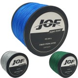 JOF 1000M PE Braided 4 Strands 12-70 LB High Sensibility Super Strong Fishing Line Sea Fishing