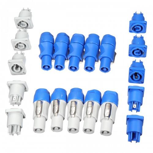 10 set Neutrik PowerCON Type A NAC3FCA+NAC3MPA-1 Chassis Plug Panel Adapter