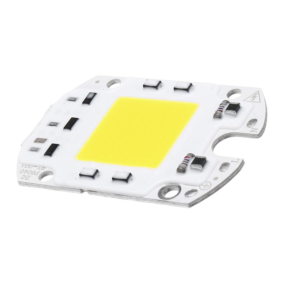 LUSTREON AC110V/220V 30W 40W 50W White/Warm White COB LED Chip 60*40mm for DIY Flood Light