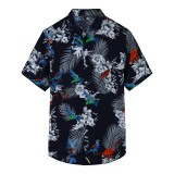 Hawaii Floral Big Plus Size Leisure Holiday Beach Shirts for Men