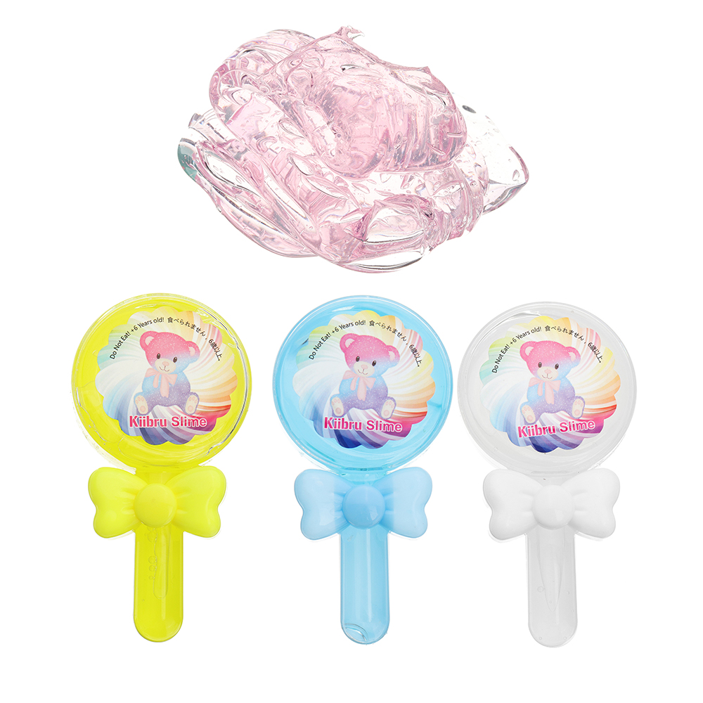 Kiibru Lollipop Slime 12 5 6 5 2 5cm Transparent Jelly Mud Diy Gift