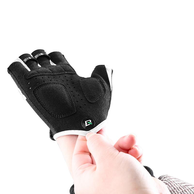 ROCKBROS S145 Cycling Gloves For Kids Bike Breathable Sports Glove Gel Pad Half Finger Shockproof Bo