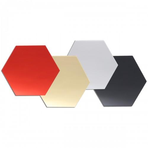 12Pcs 8cm Mirror Wall Sticker Vinyl Hexagon Removable Acrylic 3D Mirror DIY Home Room Decor Art