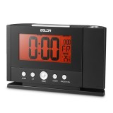 Baldr Digital Alarm Clock 180 Degree Rotation Time Projection Snooze Function Temperature Display