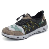 Men Comfy Breathable Mesh Suede Outdoor Hiking Athletic Shoes Sneakers