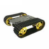 T101 Black Chassis Gold Wheels Tracked Tank Car Kit for Arduino with Dual 33 Motor