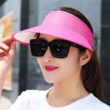 Men Women Summer Outdoor Casual Linen Empty Top Hat UV Protection Sunshade Hat