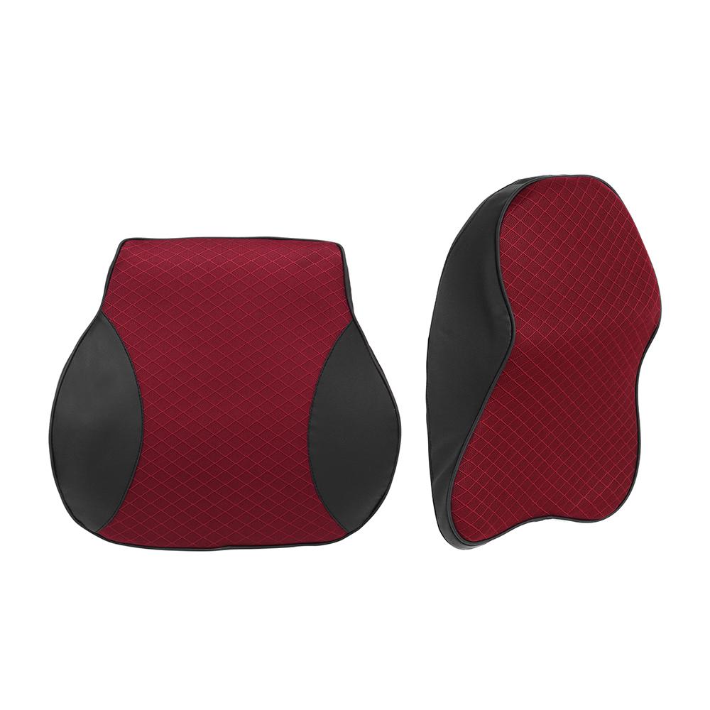 Memory Foam Car Headrest Pillow Seat Back Cushion Breathable Neck Waist Rest Support Cushion