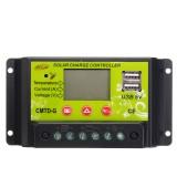 CMTD-G 10A 12V/24V LCD PWM Solar Charge Controller Dual USB Solar Panel Battery Regulator