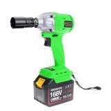 168V Cordless Portable Small Size brushless Electric Wrench Tool Lithium Battery With Fast Charger