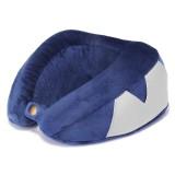 Honana Blue Slow Rebound Memory Cotton Neck Pillow U Type Pillow Storage Pouch Travel Pillow