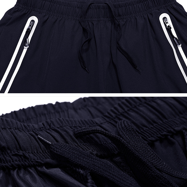 Summer Men's Slim Fit Elastic Drawstring Sports Shorts Pants Casual Quick-drying Breathable Shorts