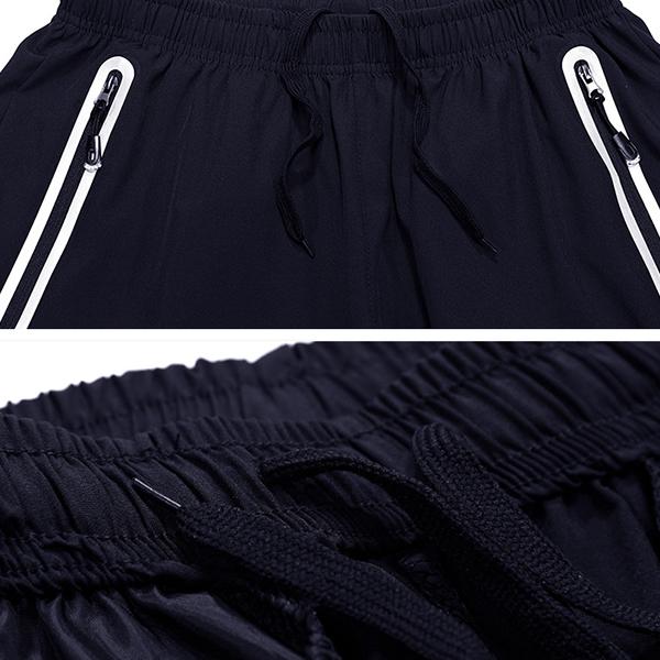 Summer Men's Slim Fit Elastic Drawstring Sports Shorts Pants Casual Quick-drying Breathable Shorts