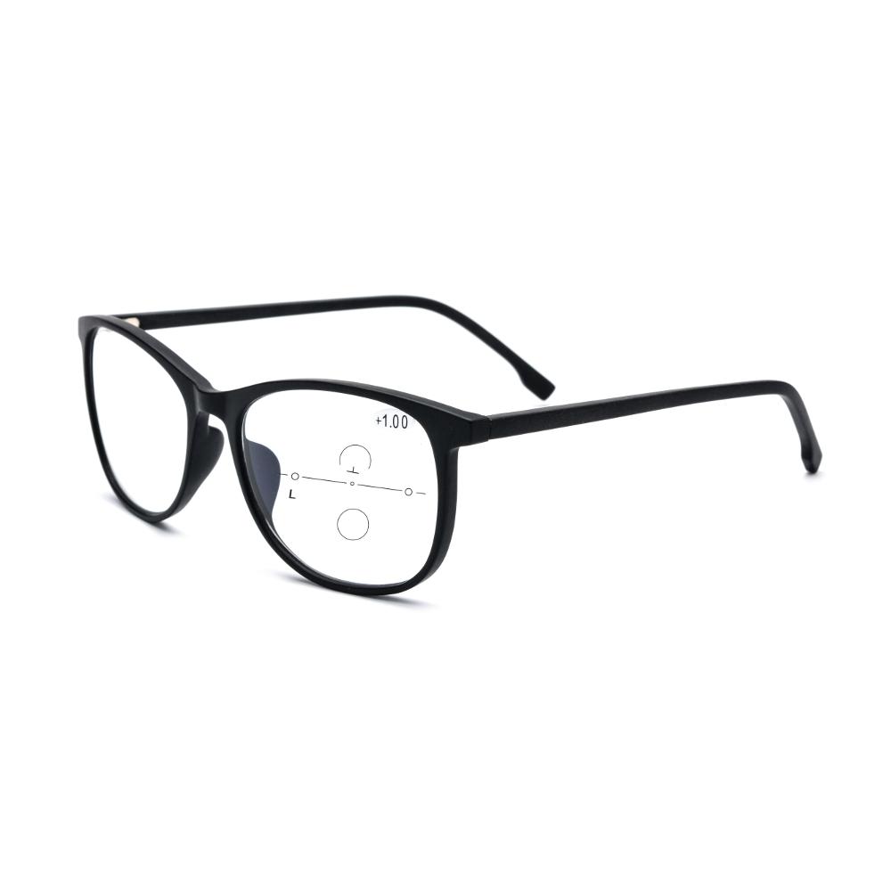 KCASA Anti Blue Light Progressive Multifocal Reading Glasses TR90 Ultra Light Presbyopic Glasses
