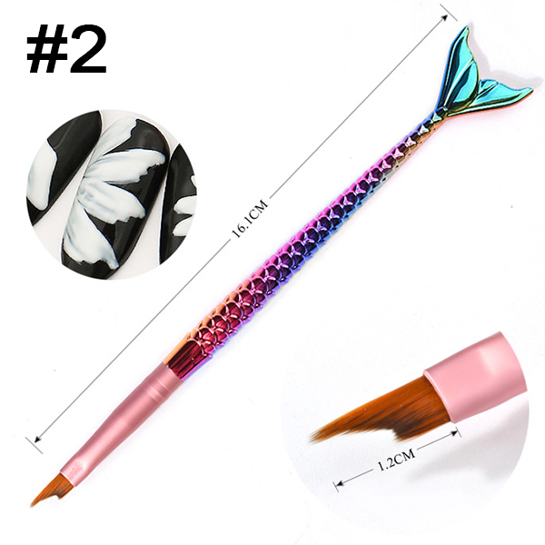 1pc Nail Art Pen Mermaid DIY Drawing Design And Line Painting Manicure Dotting Tools