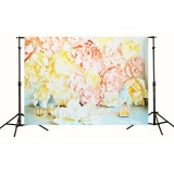 7x5ft 3D Balloon Niches Colourful Flower Thin Vinyl Photography Backdrop Background Studio Prop