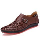 Men Low Top Hook Loop Mesh Oxfords Casual Comfy Shoes