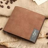 Men's PU Soft Wallet Bifold Minimalist Money Clip Card Case