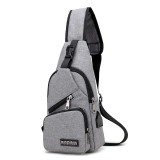 Casual Outdoor Travel Sling Bag Chest Bag Crossbody Bag with USB Charging Port