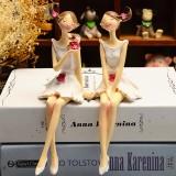 2pcs/set Beautiful Girl & Angel Creative Resin Doll Ornaments Fairy Statue Wedding Home Decorations