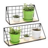 Wall Hanging Shelf Industrial Modern Storage Shelf Rack Flower Hallway Home Shelf Bracket