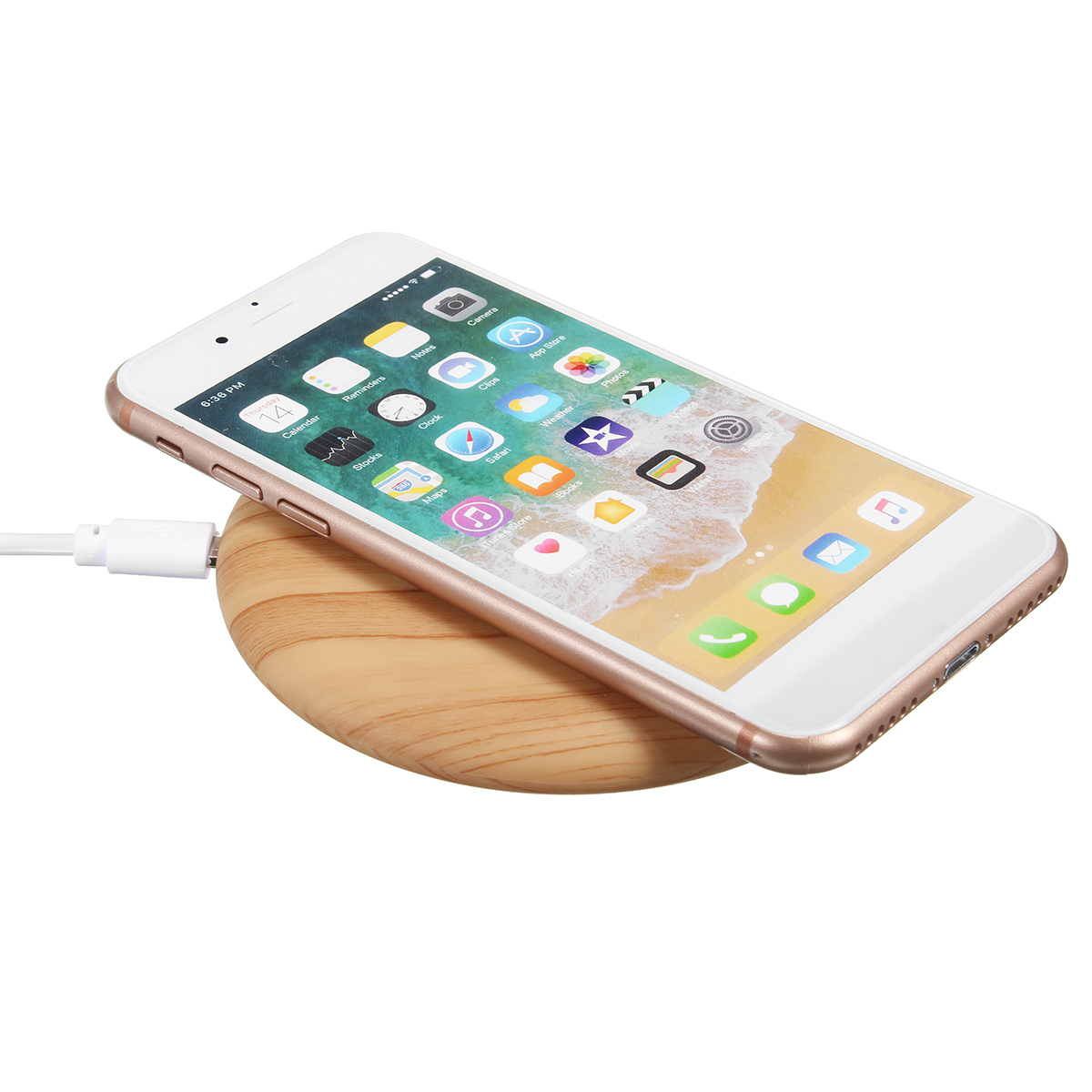 bakeey 10w qi wireless dock charging wood mat fast. Black Bedroom Furniture Sets. Home Design Ideas