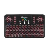 SUNNZO Q9 Air Mouse Spanish Version Wireless Colorful Backlit 2.4GHz Touchpad Mini Keyboard