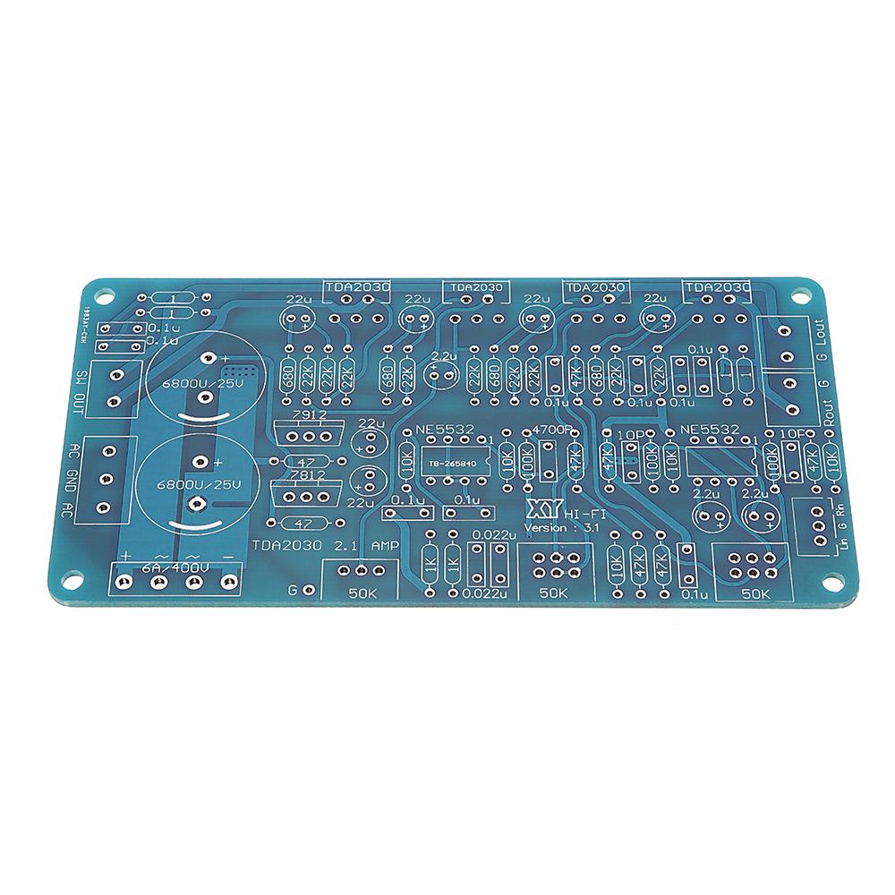 DIY TDA2030A Stereo Dual 12V AC 18W Digital Amplifier Board Kit MEGA BASS