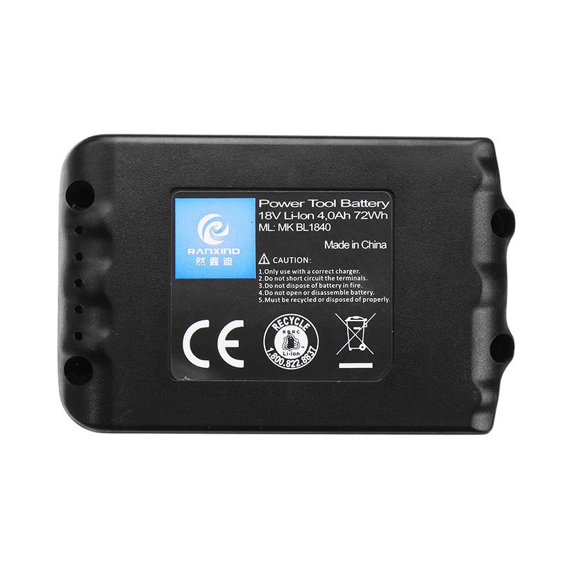 MAK-18B-Li Makita 18V 3.0/4.0Ah Li-ion Battery Power Tool Replacement Battery for Makita BL1830