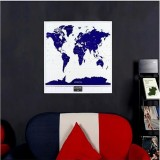 1PC New Hot High Quality Luminous Deluxe World Map Travel Scratch Map With Starlight Wall Sticker